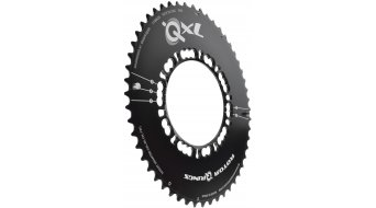 ROTOR QXL-Ring Aero 2-fach Kettenblatt 5-Loch (110mm) schwarz (außen)