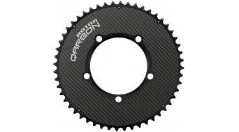 ROTOR NoQ-Ring Aero Carbon Kettenblatt 5-Loch (110mm) schwarz (außen)