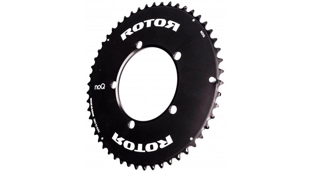 ROTOR NoQ Aero Kettenblatt 2-fach 5-arm 110 LK 52 Zähne außen schwarz
