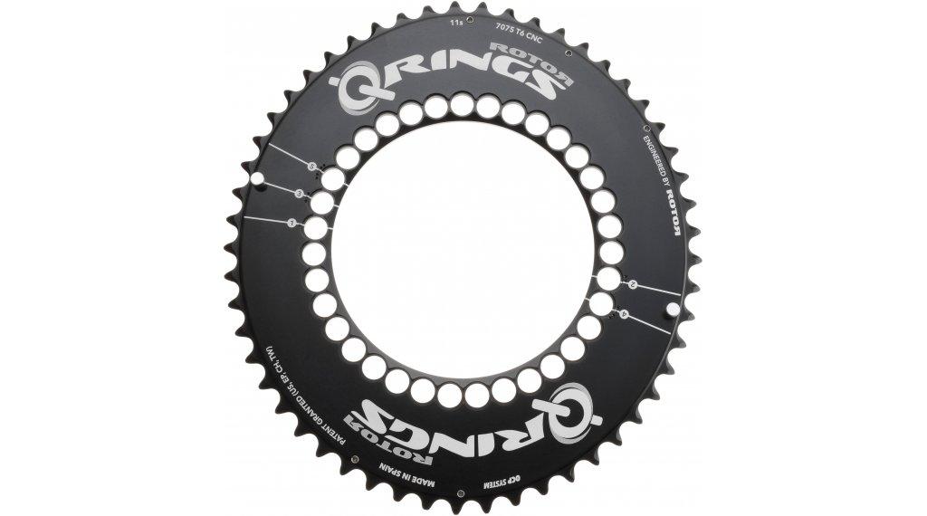 ROTOR Q-Ring Aero Kettenblatt 2fach 5x110 50T schwarz