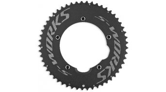 Specialized S-Works Team TT Kettenblatt Set 54/42 Zähne 5-Loch (130mm) black ano