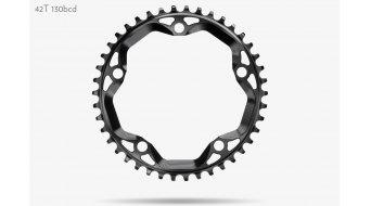 absolute Black N/W Cyclocross Kettenblatt 5-Loch (130mm) 42 Zähne schwarz