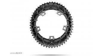 absolute Black Premium 2x ovales Rennrad Kettenblatt 5-Loch (130mm) schwarz