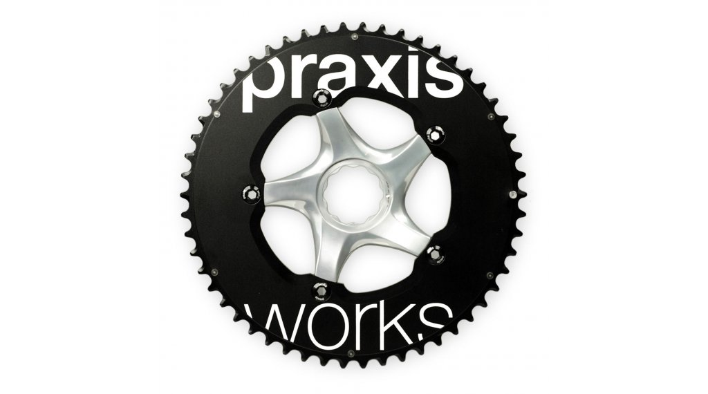 Praxis Works TT-Aero LevaTime Road Kettenblatt-Set 10-/11-fach 5-Loch (130mm) 56/42 Zähne