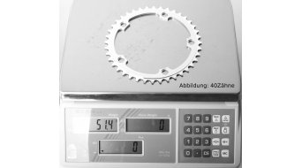 Specialites T.A. Single 8/9/10-fach Kettenblatt 40 Zähne 5-Arm (130mm) silber