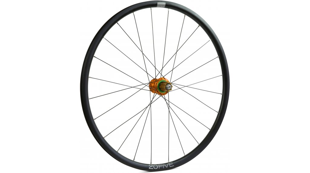 Hope Tech 20Five RS4 Disc Centerlock Rennrad/Cyclocross Laufrad Hinterrad 32-Loch Campagnolo-Freilauf orange