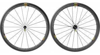 Mavic Ksyrium Pro carbon SL Clincher WTS road bike wheel set 25mm M11 Shimano/SRAM- freewheel black 2017