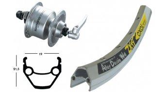 Shimano ruota anteriore DH 3N72 mozzi dinamo argento, 28 Exal ZX19 cerchio argento