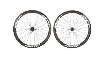 Zipp 303 Firecrest Disc carbono-Clincher rueda completa rueda delantera 18h 700c negro(-a)/blancos(-as)-pegatina