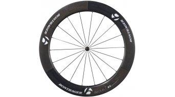 Bontrager Aeolus 7 D3 rueda completa para bici carretera rueda delantera cubierta tubular negro/blanco