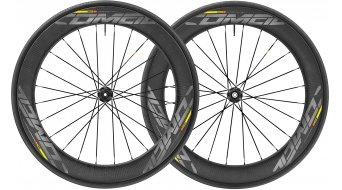 "Mavic Comete Pro Carbon SL Disc WTS 28"" Tubular bici da corsa set ruote ant+post 25mm 12x100mm/12x142mm M11 Shimano/SRAM- corpo ruota libera black mod. 2018"