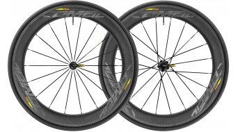 "Mavic Comete Pro Carbon SL WTS 28"" Tubular bici da corsa set ruote ant+post 25mm 9x100mm/9x135mm M11 Shimano/SRAM- corpo ruota libera black mod. 2018"