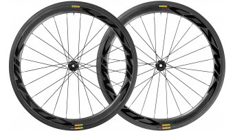 "Mavic Cosmic Pro Carbon SL T Disc WTS 28"" Tubular bici da corsa set ruote ant+post 25mm 12x100mm/12x142mm Center-Lock M11 Shimano/SRAM- corpo ruota libera black mod. 2018"