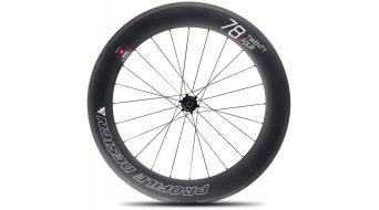 Profile Design 58/78 TwentyFour Carbon Tubular Rennrad-Laufradsatz für Schlauchreifen black