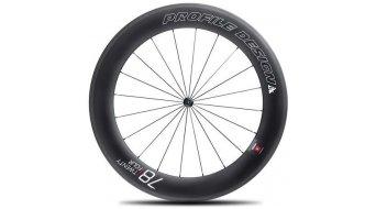 Profile Design 78 TwentyFour Carbon Tubular Rennrad-Laufradsatz für Schlauchreifen black