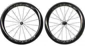 Shimano Dura Ace WH-R9100-C60-TU Carbon bici da corsa set ruote ant+post Tubular 11 velocità nero