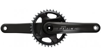 SRAM Force 1x D1 24mm-axle crank set 12 speed 107mm BCD (without GXP/PF bottom bracket ) natural carbon