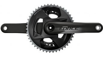 SRAM Force D1 DUB crankset 12-traps (-speed) Zähne 107mm steek(BCD) (zonder DUB trapaslager(s) ) natural carbon