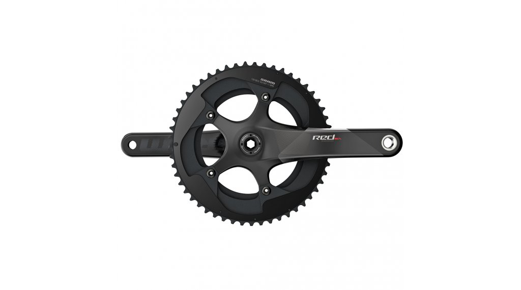 SRAM Red BB30 pédalier set 165mm 11-vitesses 50/34 dents 110mm diamètre du cercle de boulonnage (BCD) (sans BB30 boîtier de pédalier ) black