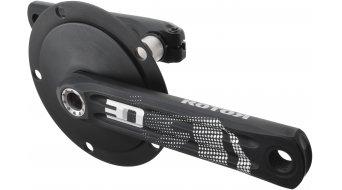 ROTOR 3D24 Aero bici carretera biela 24mm-eje (130 BCD) negro(-a)/color plata
