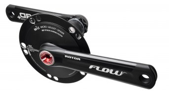ROTOR Flow MAS bici da corsa guarnitura 30mm-Welle BCD) nero/rosso