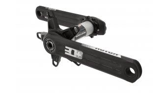 ROTOR 3D+ INpower MAS bici carretera Leistungsmess-biela 30mm-eje BCD) negro(-a)/color plata