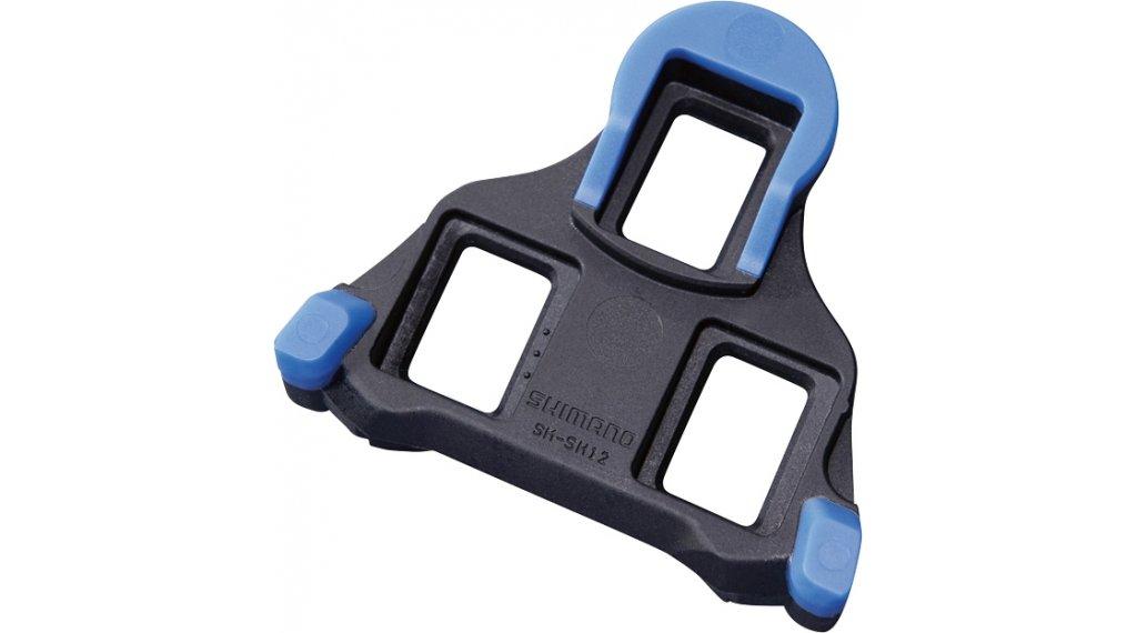 Shimano SM-SH12 SPD-SL Cleats Plattensatz mit 2° Bewegungsfreiheit blau