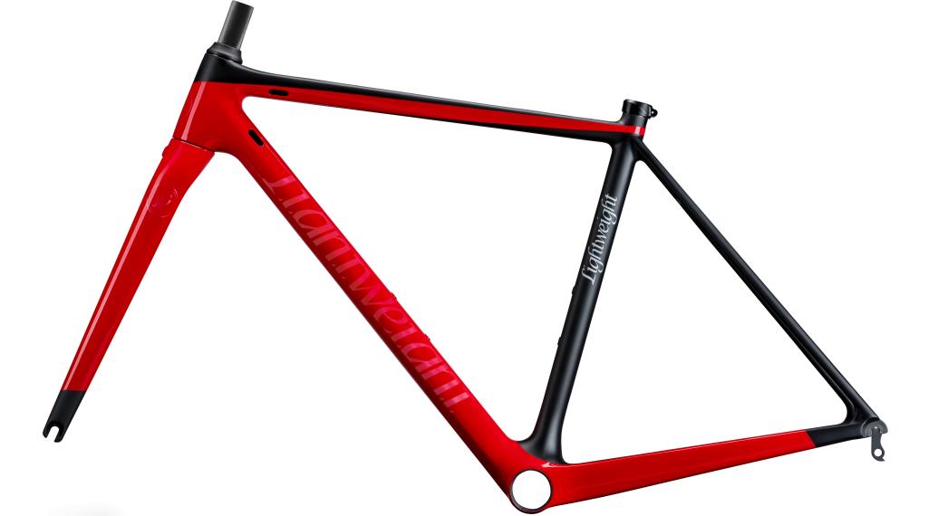 Lightweight Urgestalt Carbon Rennrad Rahmenkit Gr. 48cm schwarz/rot