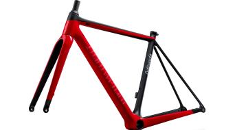 Lightweight Urgestalt Carbon Disc Rennrad Rahmenkit Gr. 48cm schwarz/rot