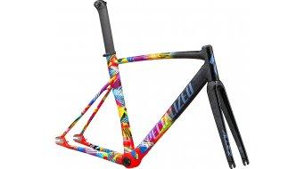 "Specialized Allez Sprint Track 28"" Bahnrad/bici da corsa kit telaio mis. 58cm gloss tarmac nero/rocket rosso mod. 2020"
