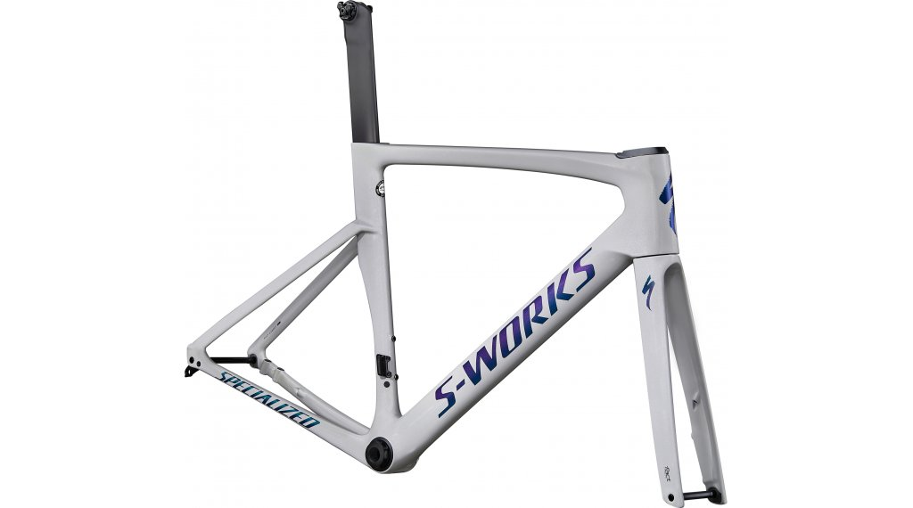 "Specialized S-Works Venge Disc 28"" Rennrad Rahmenkit Gr. 49cm gloss dove grey/diamond dust/blue murano Mod. 2020"