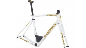 Specialized S-Works Roubaix Boonen Rennrad Rahmenkit Gr. 49cm gloss metallic white/gold flake Mod. 2017