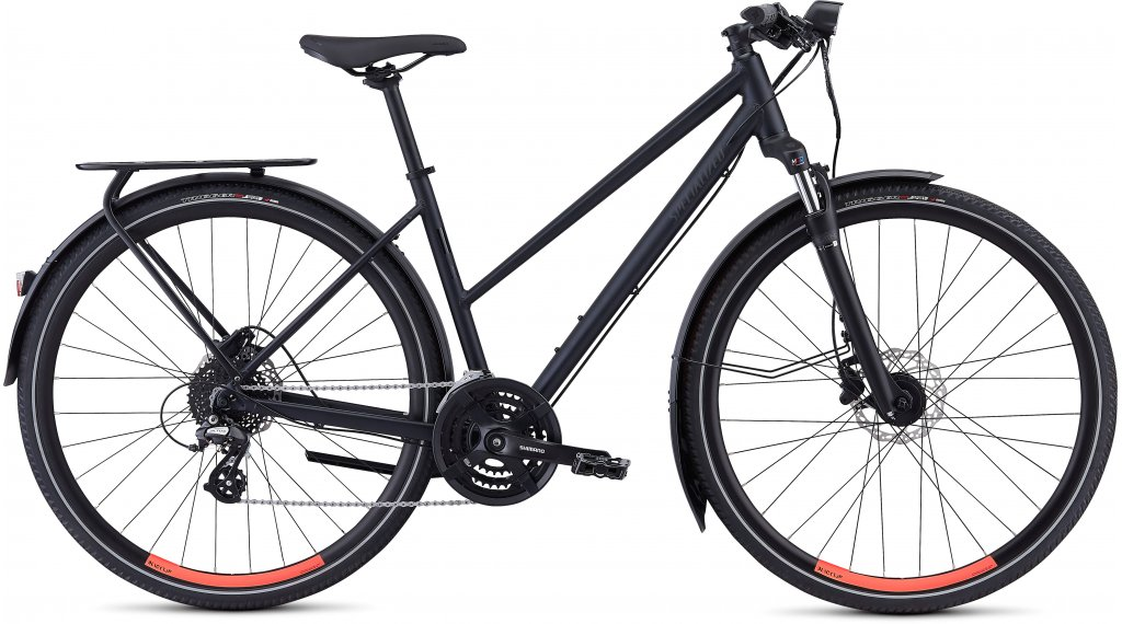 "Specialized Crosstrail EQ Step Through BT 28"" Fitnessbike bici completa mis. L cast black/acid lava mod. 2019"