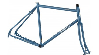 Surly disc Trucker 700C touring bicycle frame kit size 60cm blue 2017