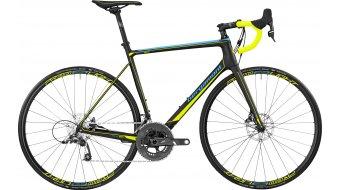 Bergamont Prime Team Carbon 28 bici da corsa bici completa . black/cyan/neon yellow (opaco) mod. 2017