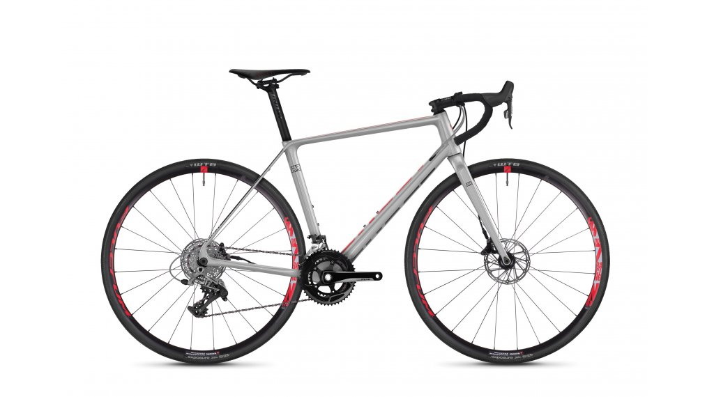 "Ghost Road Rage 4.8 LC en 28"" cyclocrosser fiets maat XL iridium silver/riot red/nightblack model 2019"