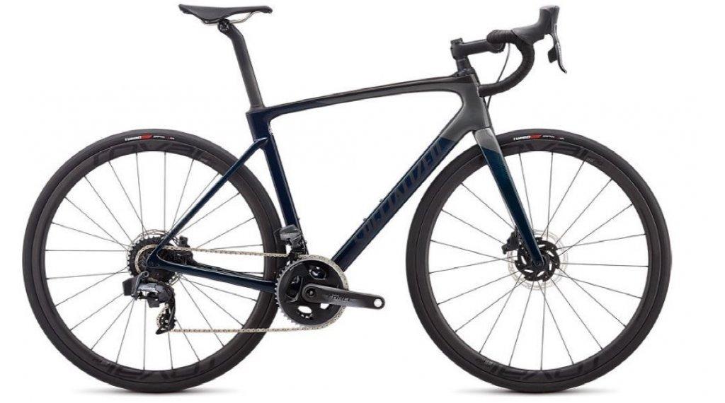 "Specialized Roubaix Pro Force eTAP 28"" Rennrad Komplettrad Gr. 49cm gloss teal tint/charcoal/blue Mod. 2020"