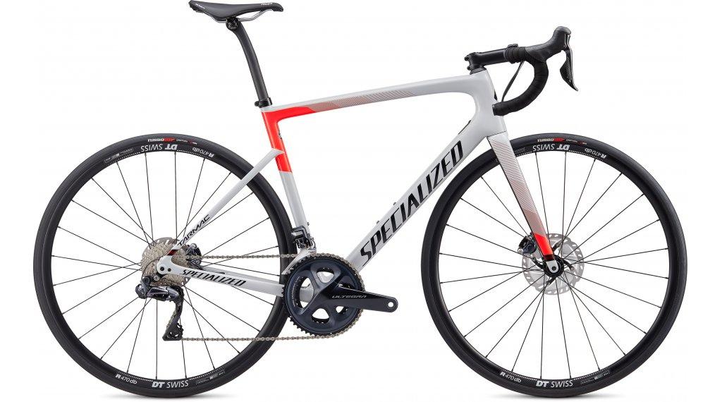 """Specialized Tarmac SL6 Comp Disc Ultegra Di2 28"""" bici da corsa bici completa mis. 49cm gloss dove grigio/rocket rosso/tarmac nero mod. 2020"""