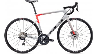 "Specialized Tarmac SL6 Comp Disc 28"" Rennrad Komplettrad Gr. 44cm gloss dove grey/rocket red/tarmac black Mod. 2020"