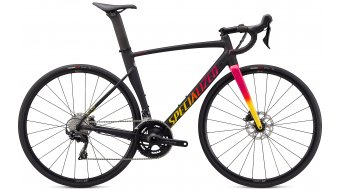 Specialized Allez Sprint Comp disc 28 road bike bike size 58 cm satin/gloss black/golden  yellow/vivid pink fade 2021