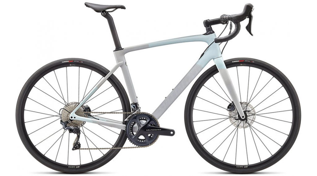 Specialized Roubaix Comp 28 Rennrad Komplettrad Gr. 52cm gloss ice blue/dove grey/cool grey Mod. 2021