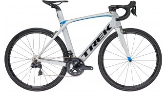 """Trek Madone 9.5 C H2 28"""" bici da corsa bici completa . matte quicksilver/gloss blue mod. 2018"""