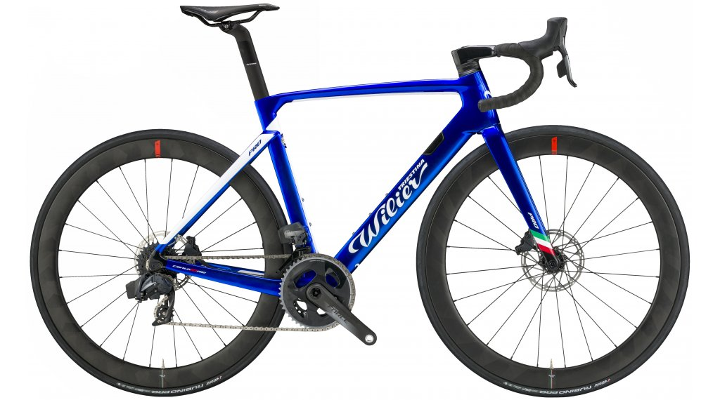 """Wilier Cento10Pro Disc 28"""" Rennrad Komplettrad Shimano Ultegra/Wilier Air50KC Carbon Gr. XS pearl blue/glossy Mod. 2020"""