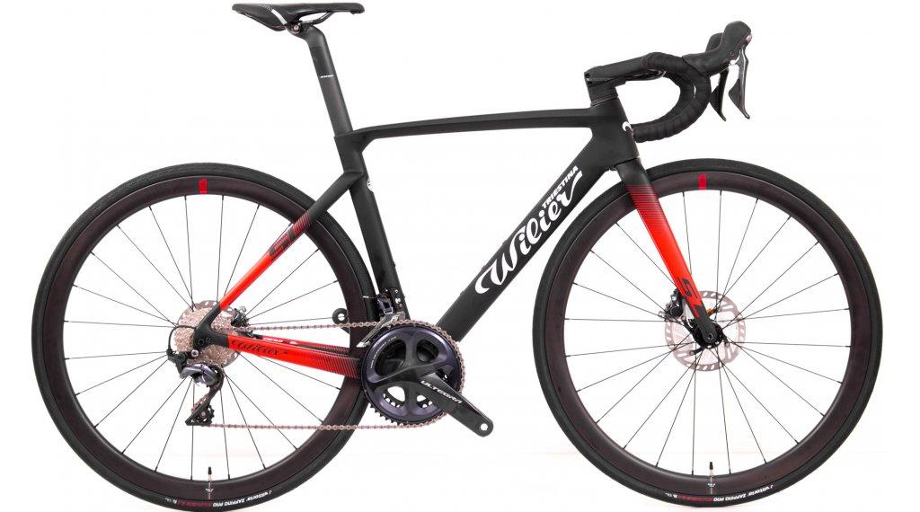 Wilier Cento10SL Disc 28 bici carretera bici completa Shimano Ultegra/Wilier NDR38 tamaño L negro/rojo color apagado Mod. 2021