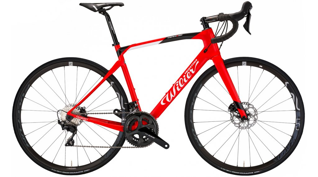 Wilier Cento1NDR 28 Rennrad Komplettrad Campagnolo Chorus / Campagnolo Calima Gr. XS red/black glossy Mod. 2021