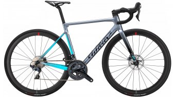 Wilier Zero SL Disc 28 Rennrad Komplettrad SRAM Force AXS / Wilier NDR38KC Gr. XS grey/light blue Mod. 2021
