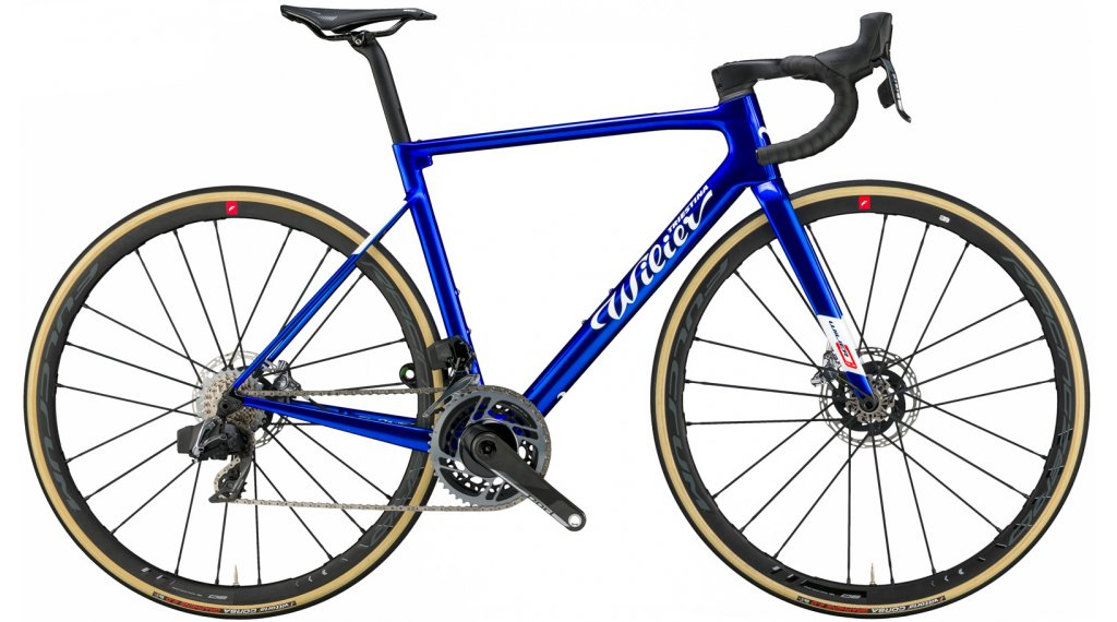 Wilier Zero SLR Disc 28 Rennrad Komplettrad Shimano Dura Ace Di2 / Wilier SLR38KC Gr. XS admiral blue glossy Mod. 2021