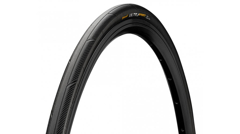 "Continental Ultra Sport III 28"" Performance Rennrad-Drahtreifen 25-622 (700x25C) black/black Skin"