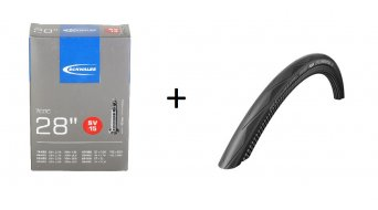 Schwalbe Durano Performance RaceGuard wire bead tire dual-compound black 2016 + free SV15 tube