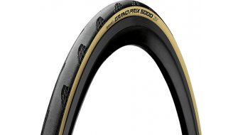 "Continental Grand Prix 5000 28"" road bike-folding tire 25-622 (700x25C) Tour de France Edition black/creme"